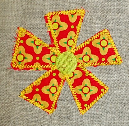 Picture of Pinwheel Flower Applique